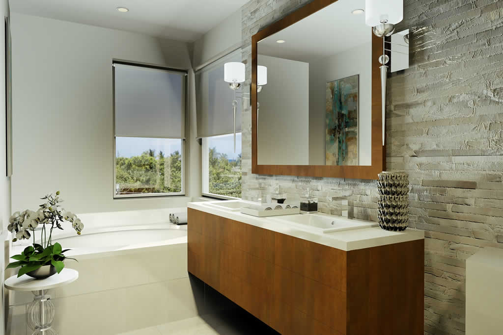 30 Thirty North Ocean master bathroom