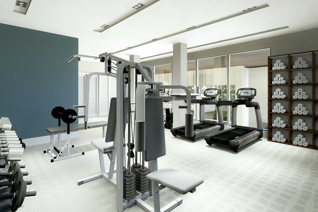 Second Floor Gym in the common area